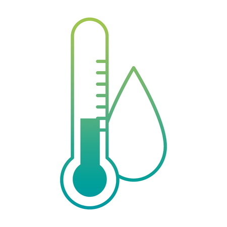Water drop with thermometer vector illustration design