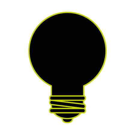 bulb energy light icon vector illustration design