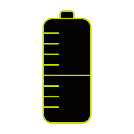 A battery power sign isolated icon
