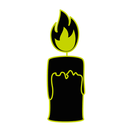 paraffin candle isolated icon vector illustration design Çizim