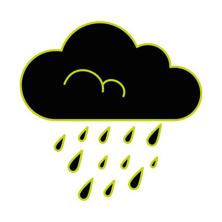 Cloud rain weather, isolated icon vector illustration design.  イラスト・ベクター素材