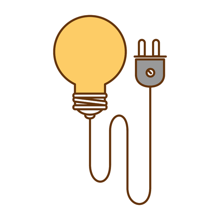 bulb energy light with wire vector illustration design Illustration