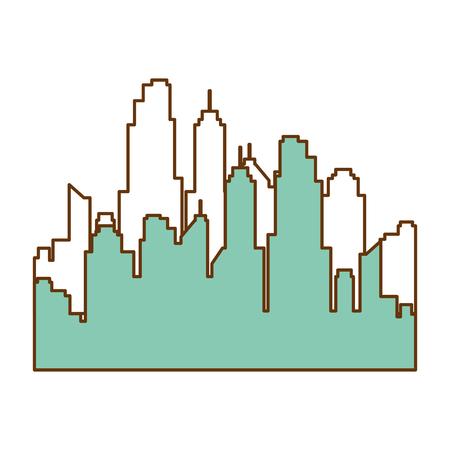 buildings cityscape isolated icon vector illustration design Archivio Fotografico - 97874205