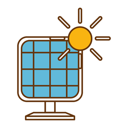 Panel solar energy alternative vector illustration design. Ilustração