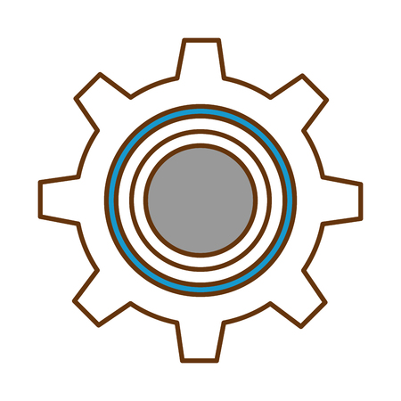 gear machine isolated icon vector illustration design Illustration