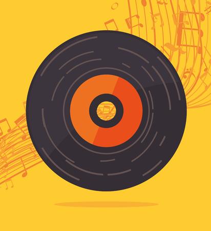 Music art graphic design, vector illustration