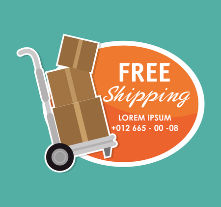 Delivery and logistic business graphic design, vector illustration Çizim