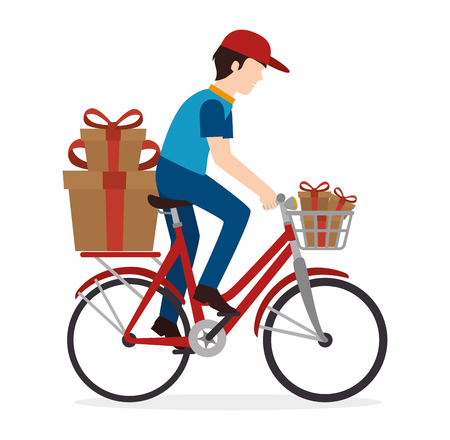 Delivery and logistic business graphic design, vector illustration  イラスト・ベクター素材