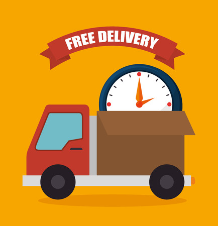 Delivery and logistic business graphic design, vector illustration.