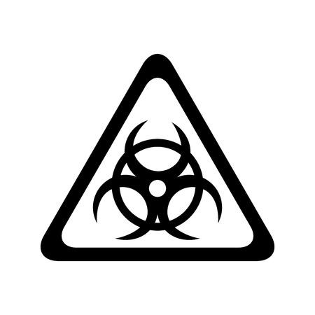Icône de signal de prudence atomique design illustration vectorielle