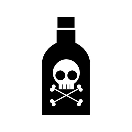 poison bottle with skull vector illustration design Illustration