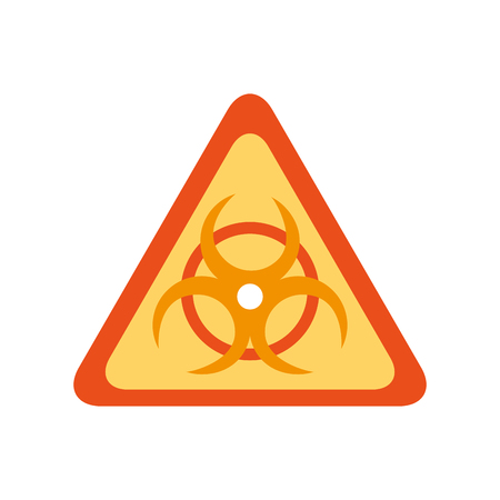 atomic caution signal icon vector illustration design Illustration