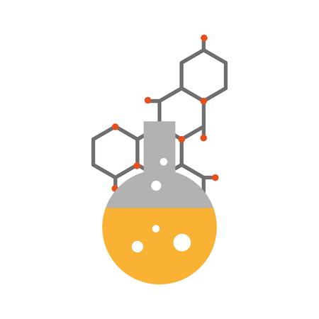 laboratory tube test and atomic icon vector illustration design