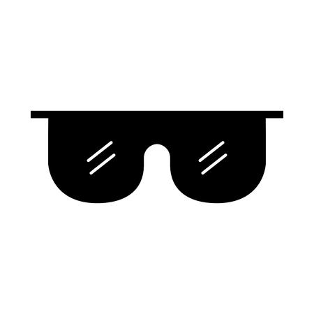 laboratory glasses isolated icon vector illustration design