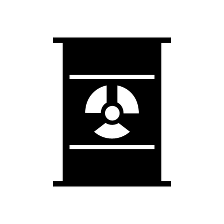 nuclear barrel isolated icon vector illustration design