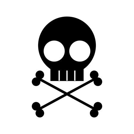 頭蓋骨危険記号アイコンベクトルイラストデザイン