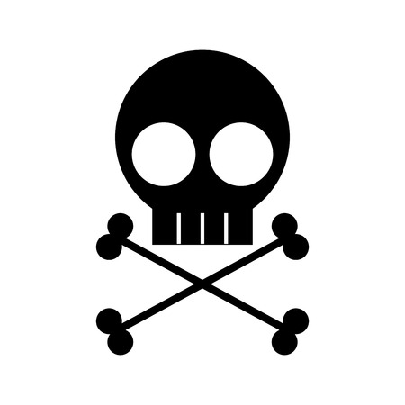 skull danger sign icon vector illustration design Stock fotó - 97881672
