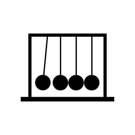 Newton pendulum isolated icon vector illustration design Stock Illustratie