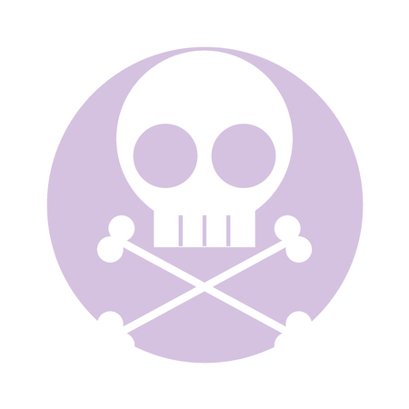 skull danger sign icon vector illustration design Foto de archivo - 97881681