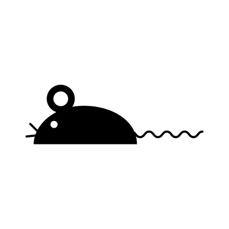 Laboratory mouse isolated icon vector illustration design