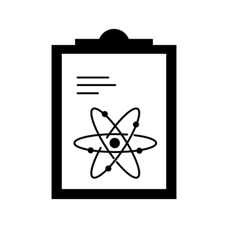 paper clipboard with atom vector illustration design Stock Vector - 97920310