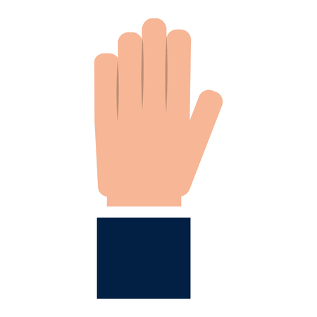 businessman hand gesturing expression image vector illustration