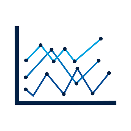 diagram linear graph statistical analysis business vector illustration Illustration