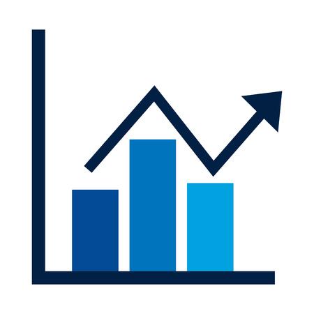 business financial bar graph chart diagram growth profit vector illustration