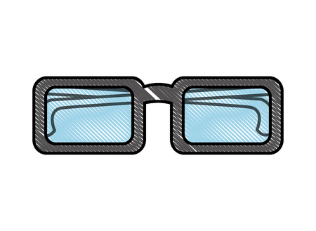 eyeglasses accessory fashion object element vector illustration