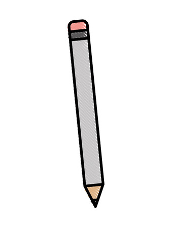 wooden pencil supply for writing vector illustration Illustration