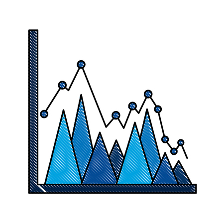 statistics triangle graph line point business plan report vector illustration Çizim