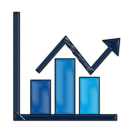 business financial bar graph chart diagram growth profit vector illustration