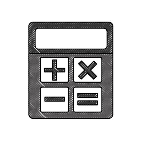 business calculator financial math icon vector illustration Illustration