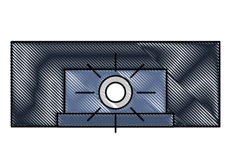 projector lamp cinema movie image vector illustration
