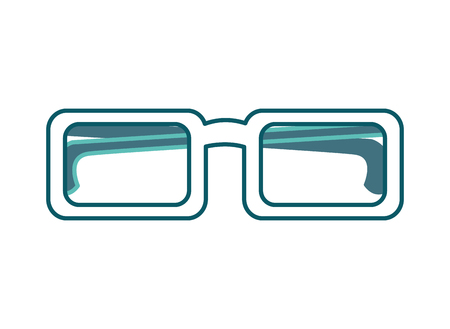 eyeglasses accessory fashion object element vector illustration green design