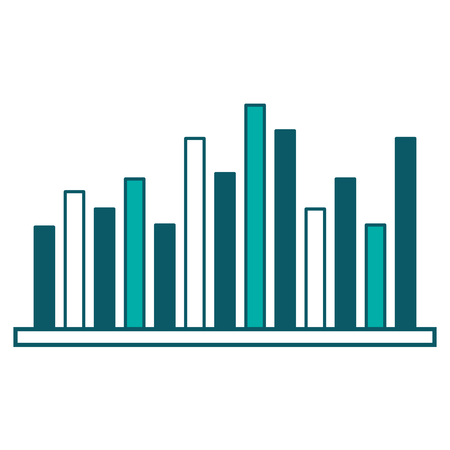 statistics business bar graph diagram image vector illustration green design