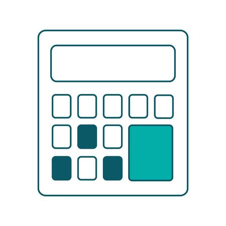 business calculator financial math icon vector illustration green design Illustration