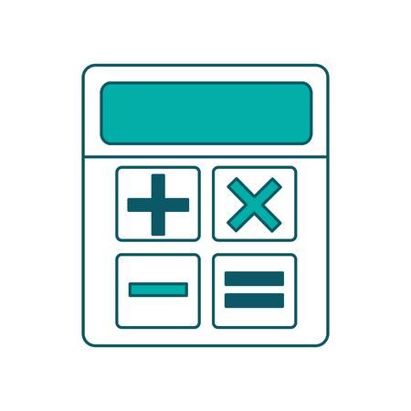 business calculator financial math icon vector illustration green design Ilustrace