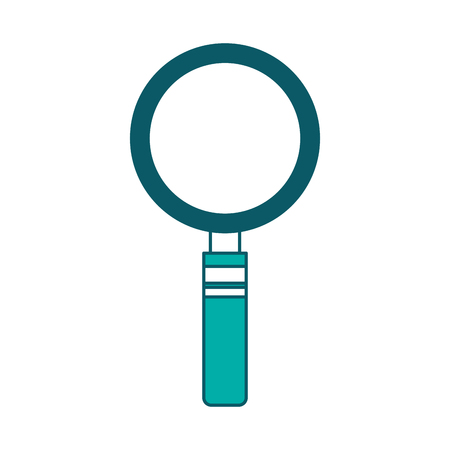 magnifier glass search analysis icon vector illustration green design