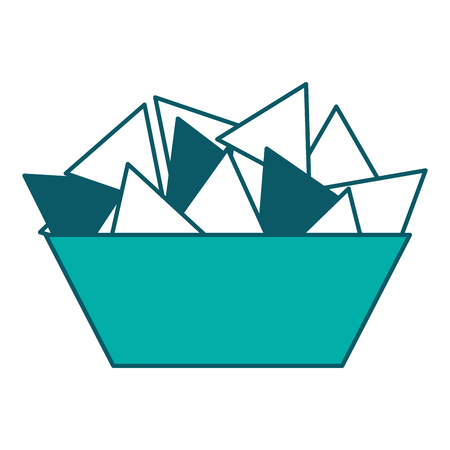 bowl nachos snack food image vector illustration
