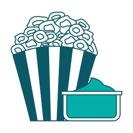 bucket pop corn cinema food image vector illustration Illustration