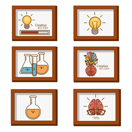 creative big idea set icons vector illustration design 写真素材 - 97892830