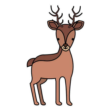 cute and tender reindeer vector illustration design