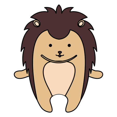 cute and tender Porcupine vector illustration design