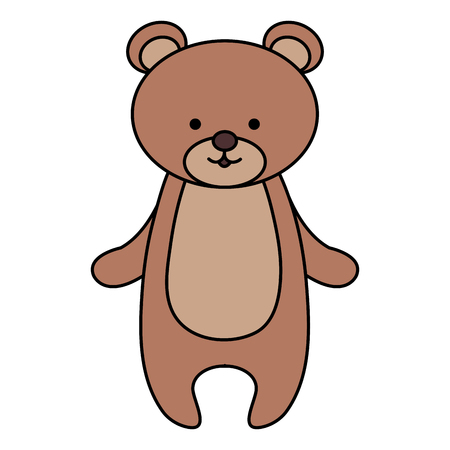 cute and tender bear vector illustration design