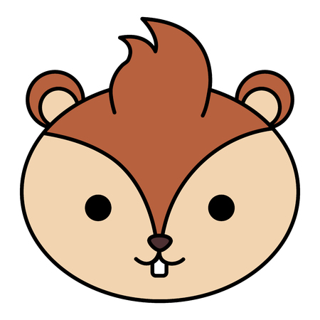 cute and tender chipmunk head vector illustration design Vectores