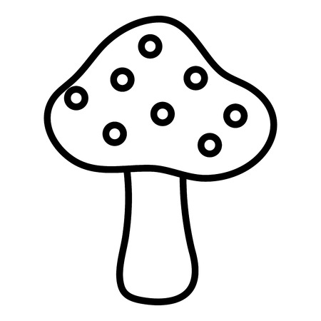 Cute mushroom isolated icon vector illustration design Illusztráció