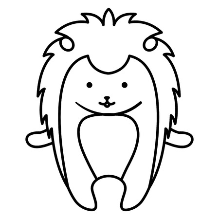 A cute porcupine vector illustration design