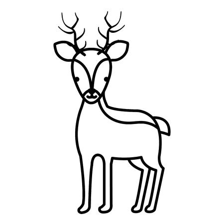 A cute reindeer vector illustration design