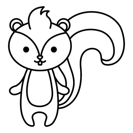 A cute chipmunk vector illustration design